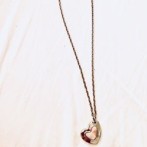Stainless steel heart pendant necklace from Italy